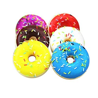 Toy Shimigy Squishy Squeeze Stress Reliever Soft Colourful Doughnut Scented Slow Rising: Clothing