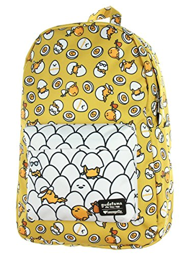 Loungefly Gudetama Multi Pose Print Nylon Backpack (One Size, Yellow) -