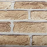 ROSEROSA Peel & Stick Rust Brick Pattern Backsplash Slate Stone Concrete Contact Paper Self-adhesive Wallpaper Shelf Liner Table and Door Reform (S4246-1 : 1.64 Feet X 8.20 Feet)