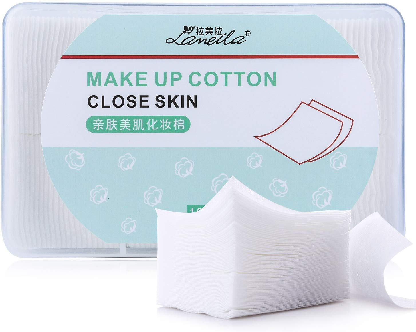 1000pcs Makeup Facial Cotton pads, nail polish remover pads, lint free Nail Wipes facial eye make up wipes, square cosmetic cotton pads, Non-woven cotton Makeup Remover, Random Color