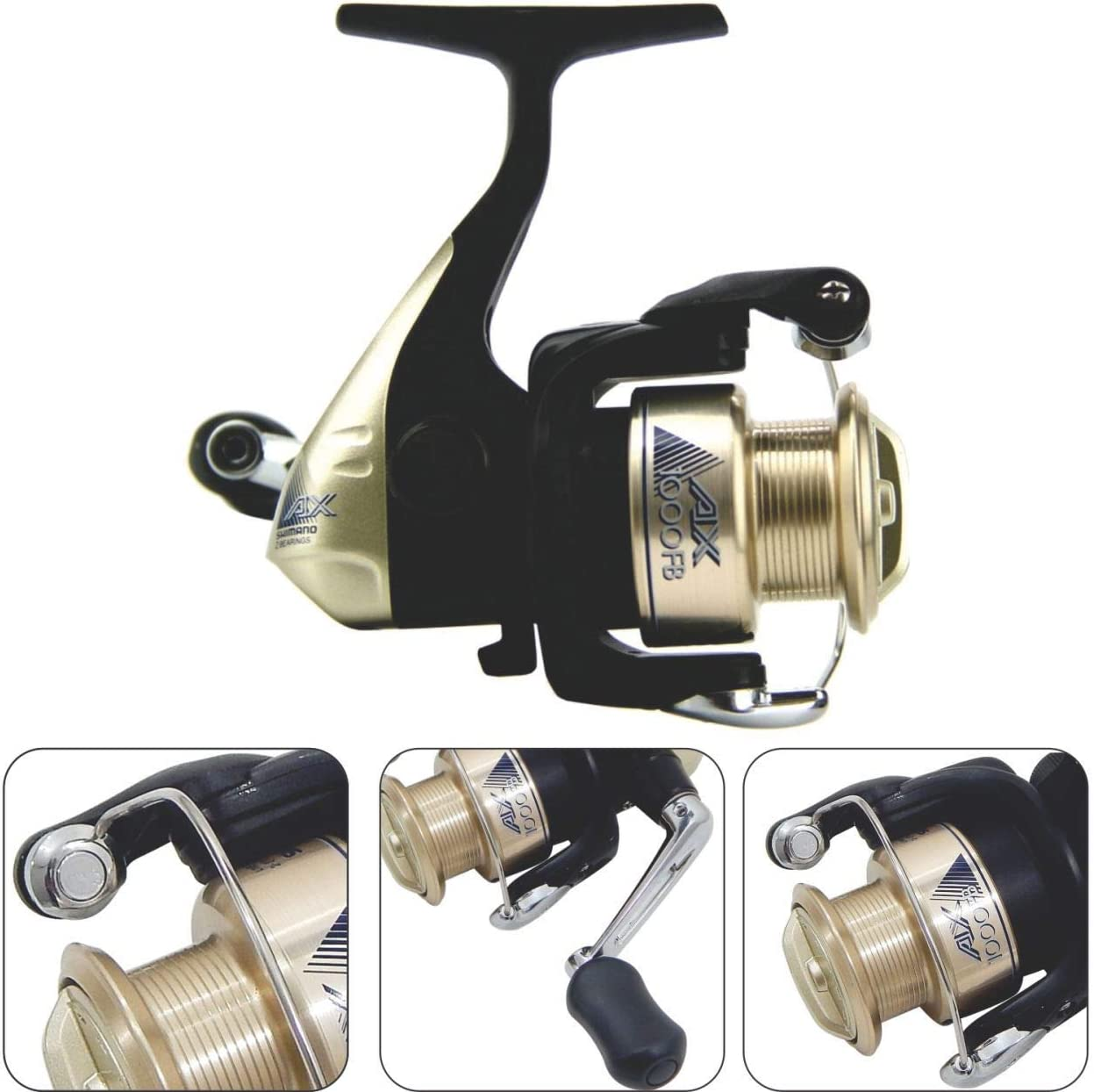 SHIMANO Carretes de Pesca AX FB 1000 Spinning Boloñesa Feeder ...