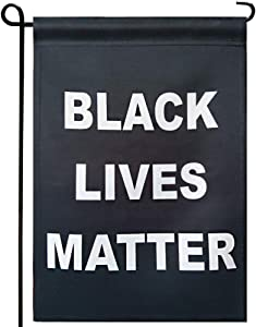Black Lives Matter BLM Garden Flags- Double Sided Pan African Black Pride Yard Flag Banner Outdoor Lawn Patio Decoration UV Resistant