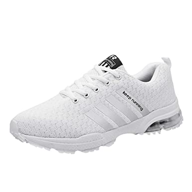 2f49da5b591b Amazon.com  Mens Womens Sneakers Size 5-11 - Lightweight Breathable Mesh Athletic  Sport Running Tennis Shoes Air Cushion Sneakers Shoes  Clothing