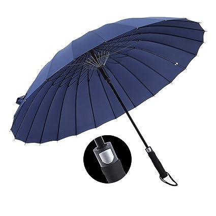 Paraguas Sombrilla Con 24 Costillas Protección Solar Negocio Extra Grande Mango Largo Refuerzo A Prueba De