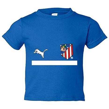 Camiseta niño segunda equipación Atleti de los 80 Atlético de Madrid - Azul Royal, 3
