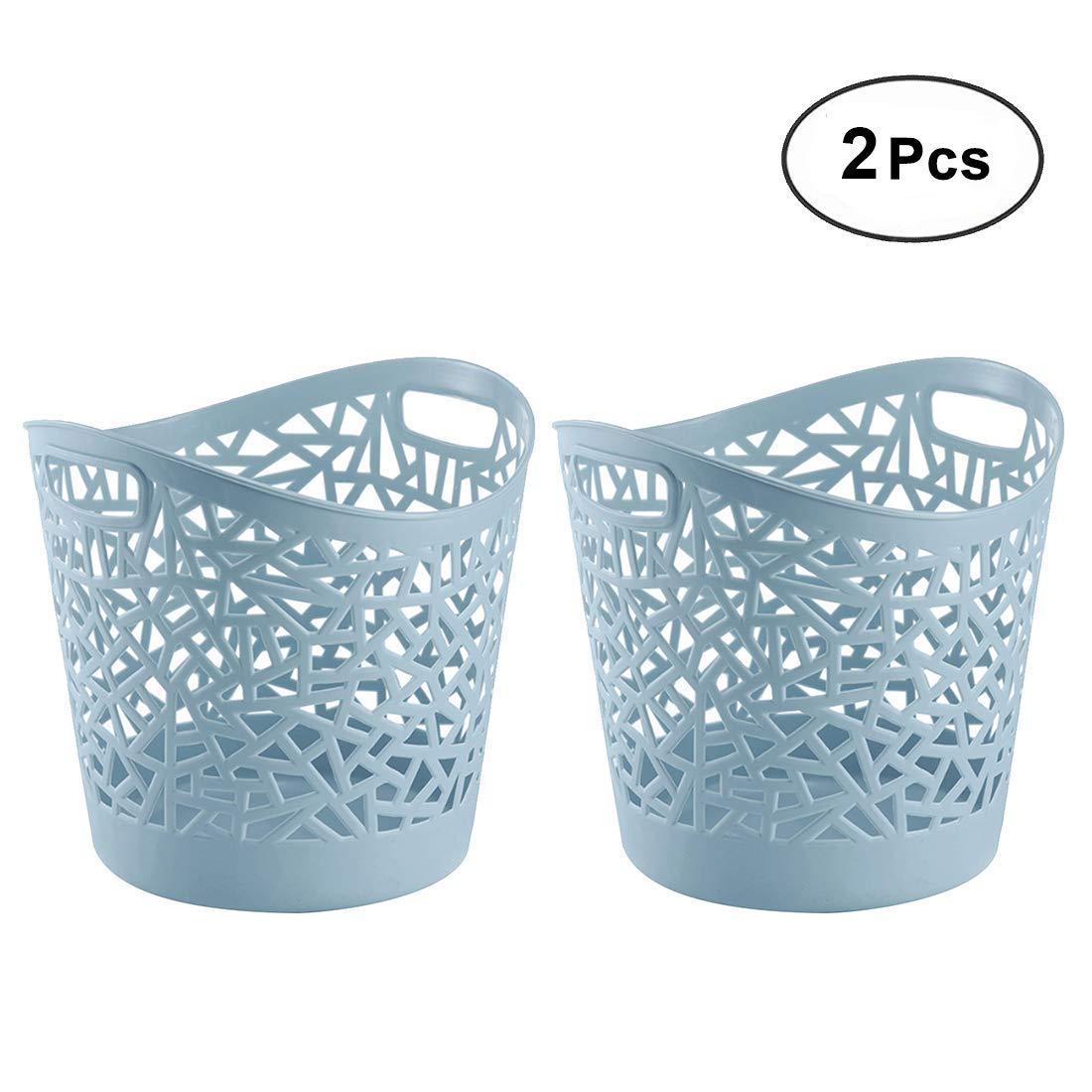 Peleustech ® 2pcs簡単に使用下部Thickeningプラスチック中空ランドリーバスケット家庭用ストレージ服バスケット – (ブルー) B07FJYFTLG