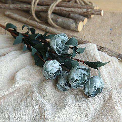Longay Artificial PE Fake Flowers Rose Floral Wedding Bouquet Bridal Hydrangea Decor (Navy) ()
