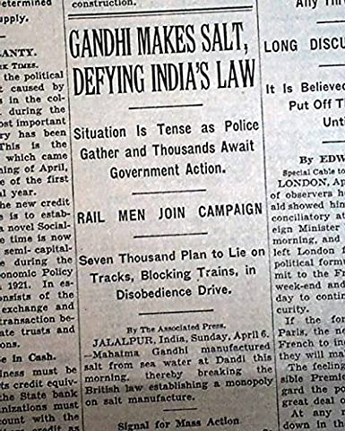 GANDHI Mohandas Mahatma SALT MARCH Satyagraha Ends in Dandi
