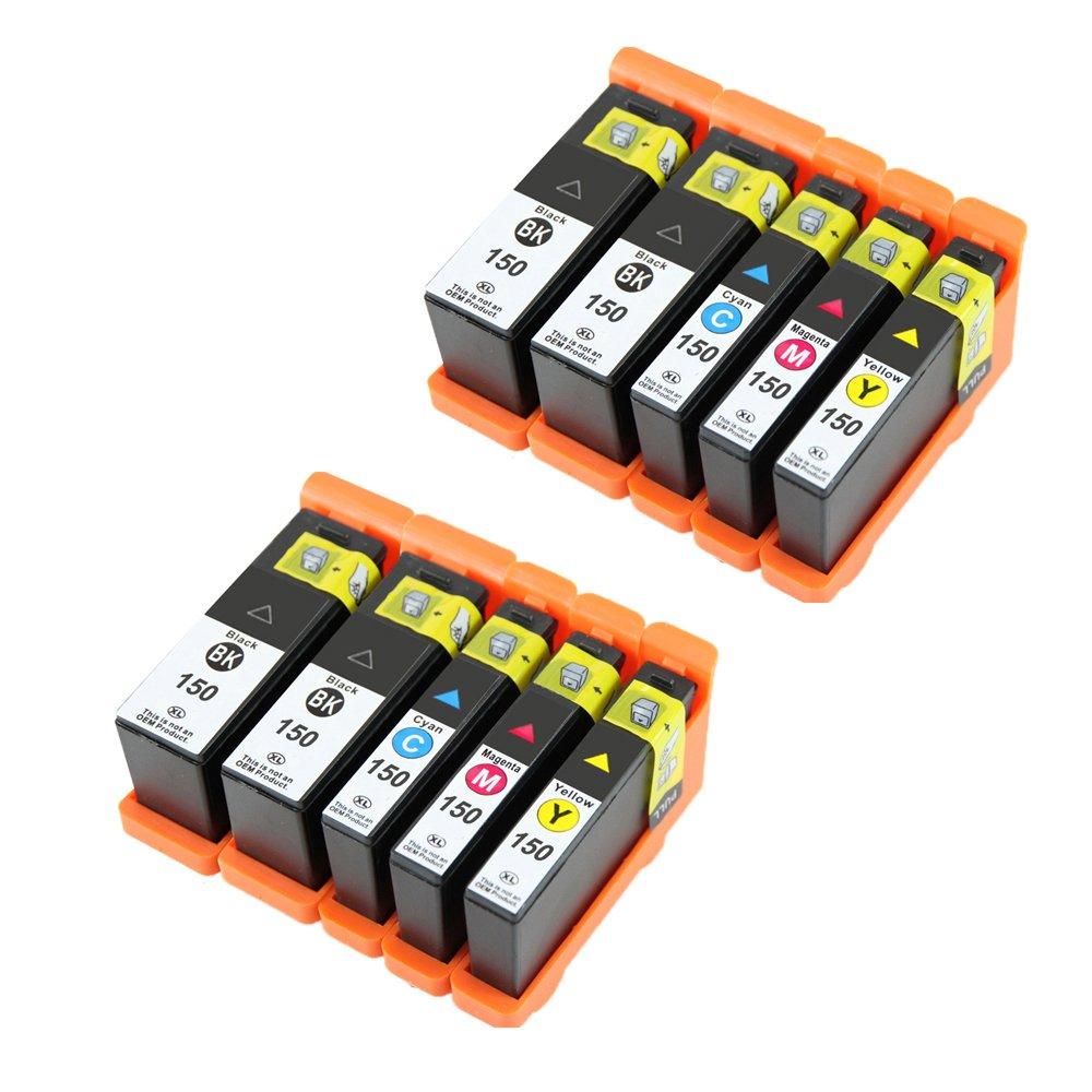 Eston 10パックLexmark高イールド150 x Lフルカラーインクカートリッジfor Lexmark pro715 , pro915 , s315 , s415、s515 B01MF9PK9C