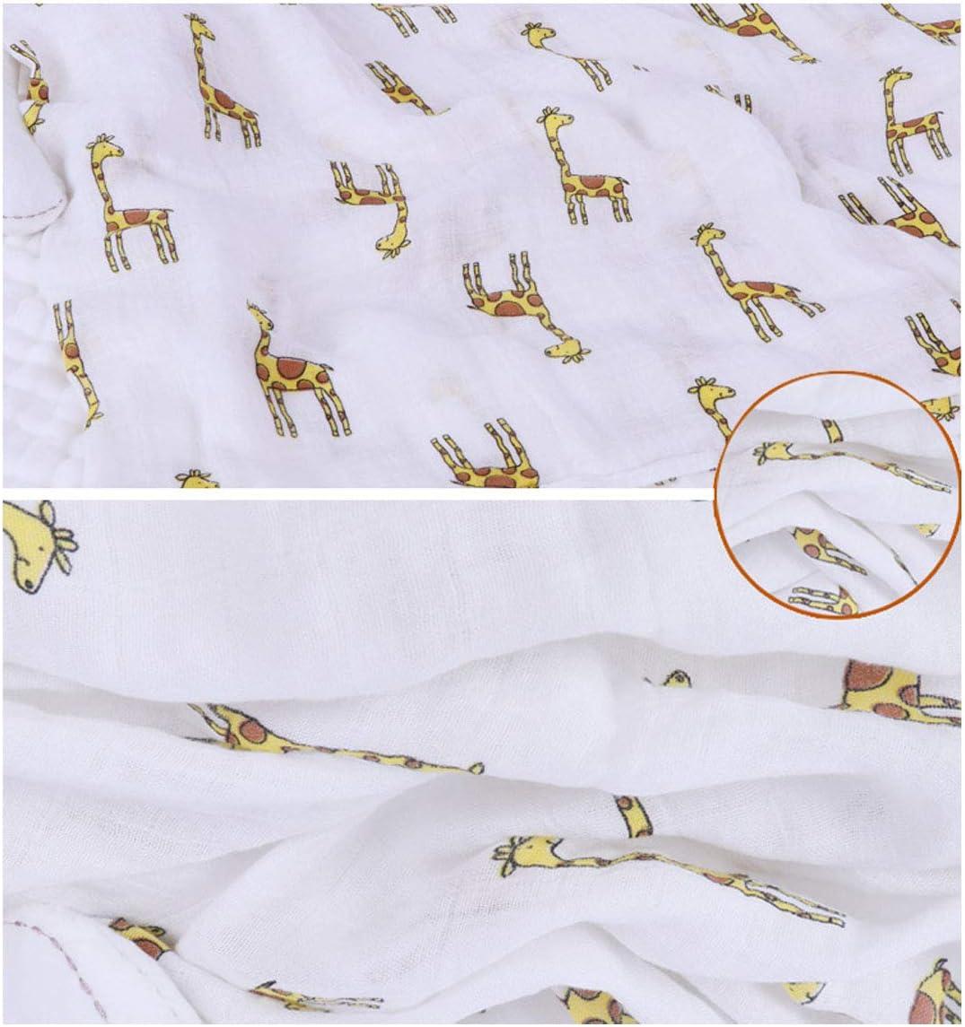 Ymwave Muselina Manta Beb/é Bamb/ú Algod/ón Swaddle Mantas 110 x 120 cm Adecuado para Ni/ña o Ni/ño