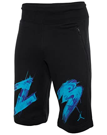 c864bb7616f1 Amazon.com  Jordan Men s Nike AJ VIII 8 Fleece Shorts-Black-Medium  Clothing