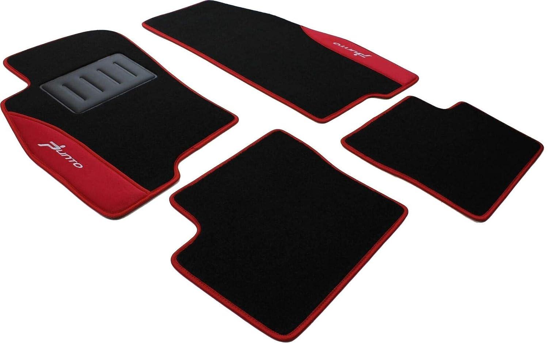 ilTappetoAuto COLOR0000013R Tapis en Moquette avec 2 Broderies Rouge