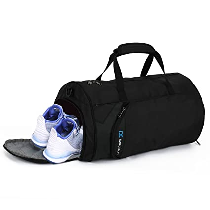 c4802e4ada Gym Bag Sports Duffel Bag Small Waterproof with Shoes Compartment for Women  and Men
