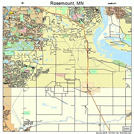Amazon.com: Large Street & Road Map of Rosemount, Minnesota MN ...
