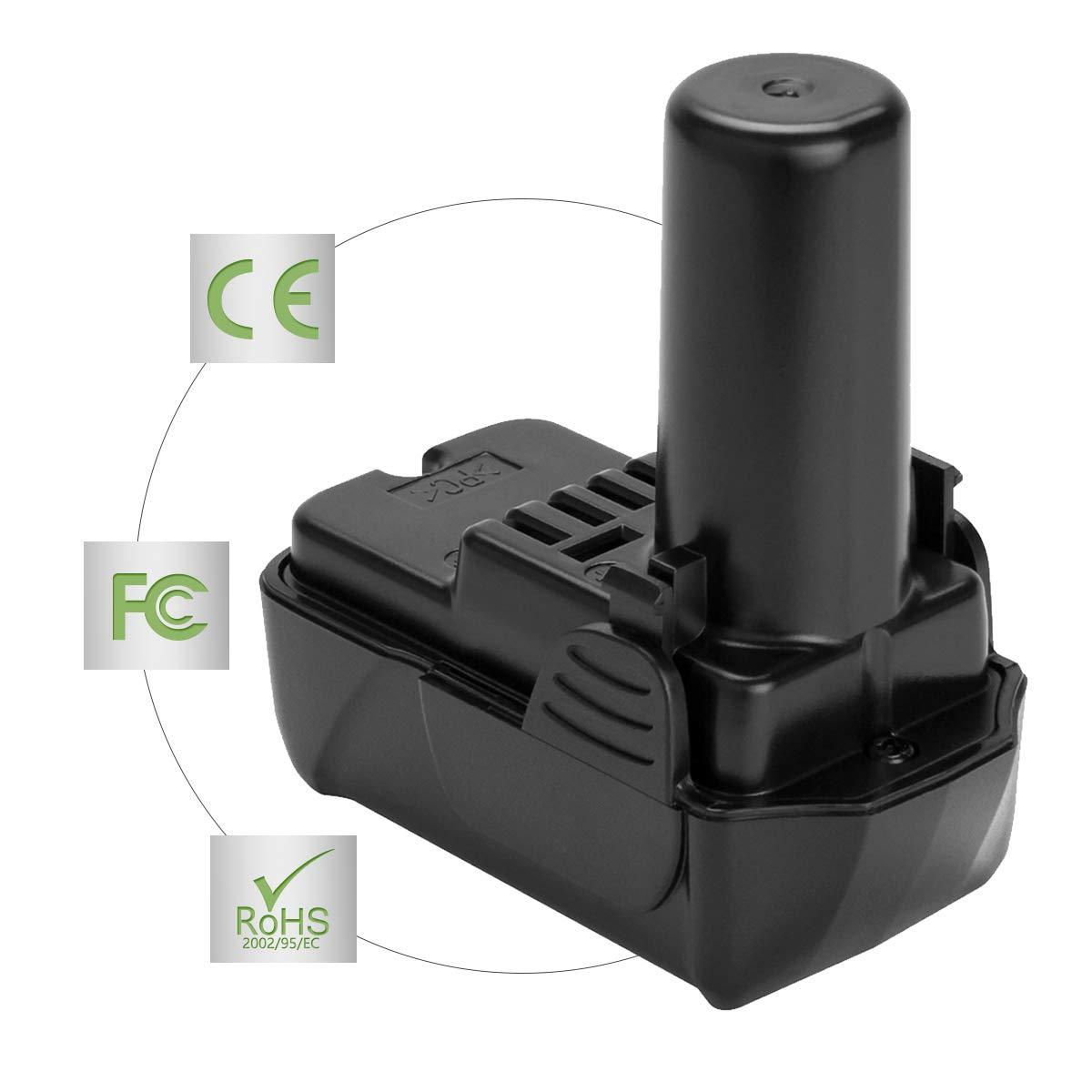 Joiry 10.8V 2500mAh Li-ion Replacement Batterie pour HITACHI 329369 329370 329371 329389 331065 BCL1015