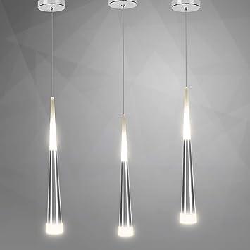 Aluminium 4000k Suspension Led Transparent Acrylique Moderne Placage Désign 7w Lampe Lumière Lampe Suspendue En Art Pendante MpVSzU
