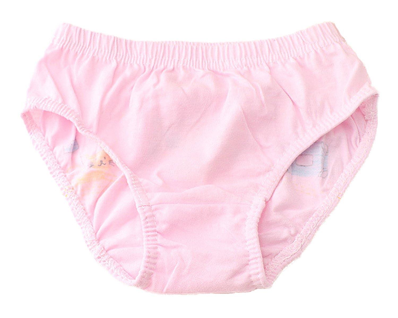 Little Girls Kids Baby Toddler 4Pcs Princess Girl Print Boyshort Underwear Boxers Briefs Panties
