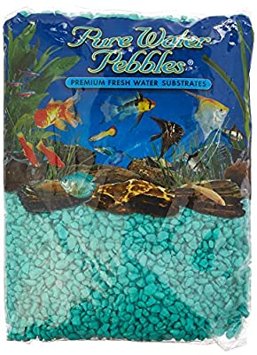 Pure Water Pebbles Aquarium Gravel, 5-Pound, Turquoise from WORLD WIDE IMPORTS ENT., INC.