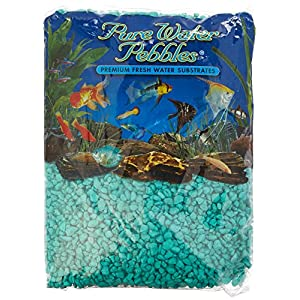 Pure Water Pebbles Aquarium Gravel, 5-Pound, Turquoise 22