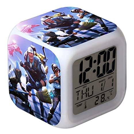 Reloj Despertador Digital con LED 7 Colores Despertador con función Snooze, Pantalla LCD Que Muestra