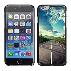 Caucho caso de Shell duro de la cubierta de accesorios de protección BY RAYDREAMMM - Apple iPhone 6 - Open Road Freedom Sky Drive Summer