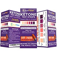 Ketone Test Strips. Testing Levels of Ketones Suitable for Diabetics, Low Carb, & Fat Burning Dieters. (100 + 25) Get on Track with Ketogenic, Paleo, Diabetic, or Atkins Diet for Weight Loss & Ketosis from Just Fitter