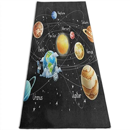 Amazon.com : System Planet Outer Space Yoga Mat-All-Purpose ...