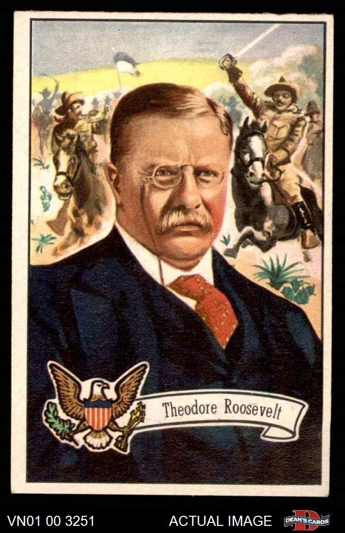 1956 Topps # 28 Theodore Roosevelt (Card) Dean's Cards 3 - VG 61U5d9CePvL