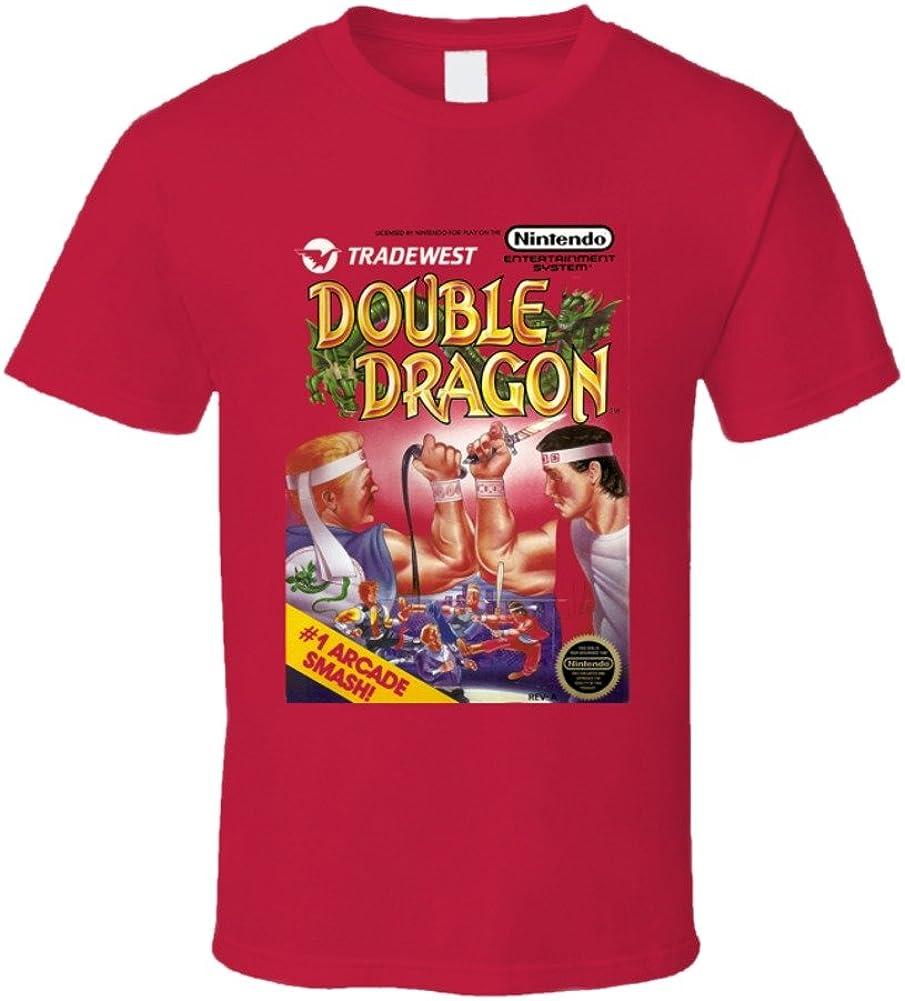 Double Dragon Retro Nes Box Art Video Game T Shirt Amazon Com