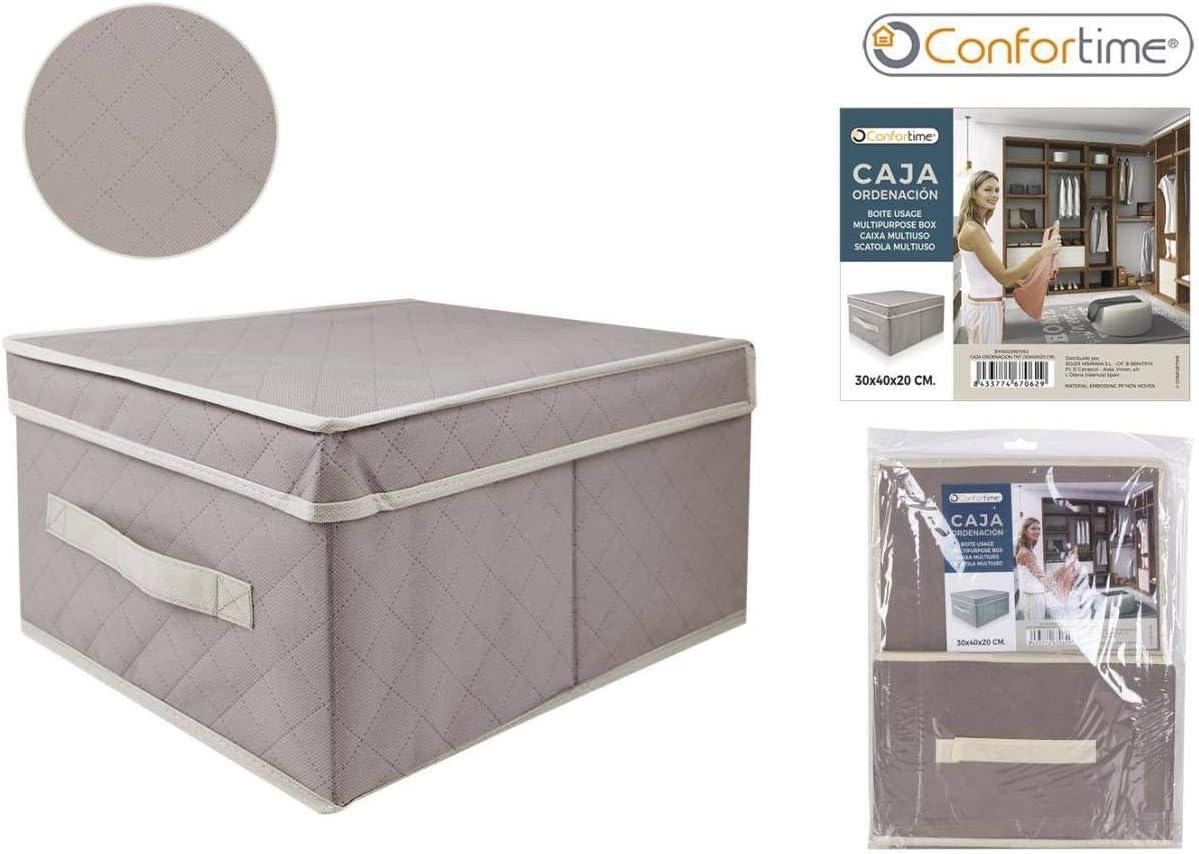 CONFORTIME Caja Ordenación TNT, 30 x 40 x 20 cm, Textil ...