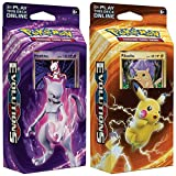 Pokemon Mewtwo & Pikachu XY Evolutions TCG Card Game Decks - 60 cards