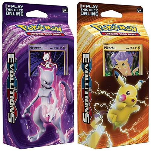 Pokemon Mewtwo & Pikachu XY Evolutions TCG Card Game Decks - 60 Cards Each
