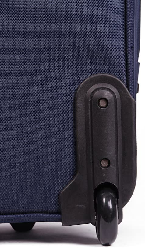 26 LARGE LIGHTWEIGHT EXPANDABLE SUITCASE LUGGAGE CASE TROLLEY BAG TRAVEL BLACK