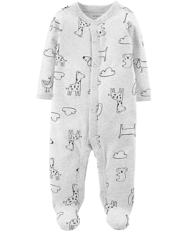 Carters Baby Boys 1 Piece Snap Up Cotton Sleep and Play Animal