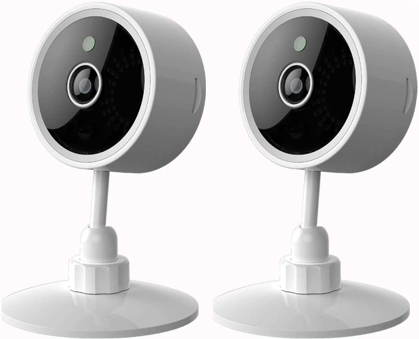 Premier Accessory Group Smart Security Camera Alexa Google Home Certified Compatible Smarthome Wireless Pet Nanny Cam WiFi Safety Set, 2, 4 Packs, Smartphone App Enabled, White
