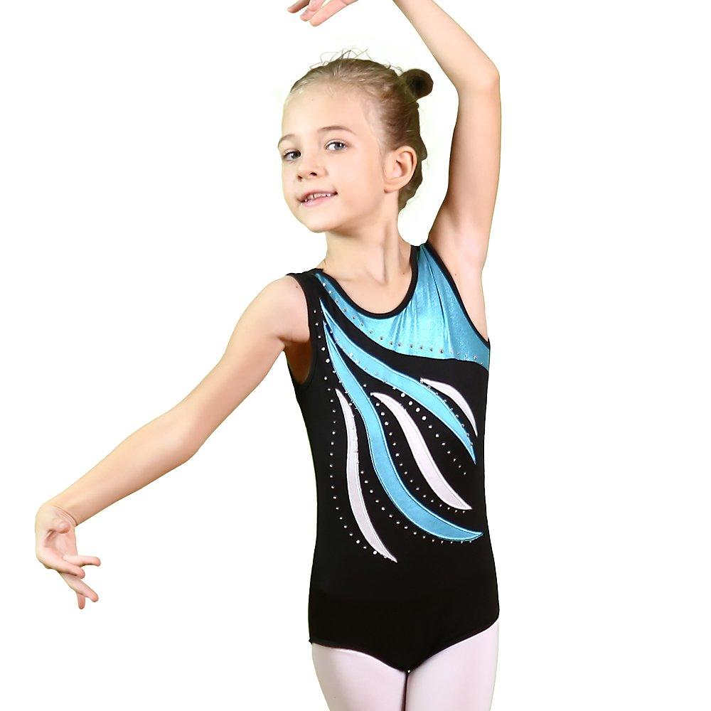 daafa1d77 BAOHULU Girls Gymnastics Leotards One-Piece 3-12 Years Practice ...