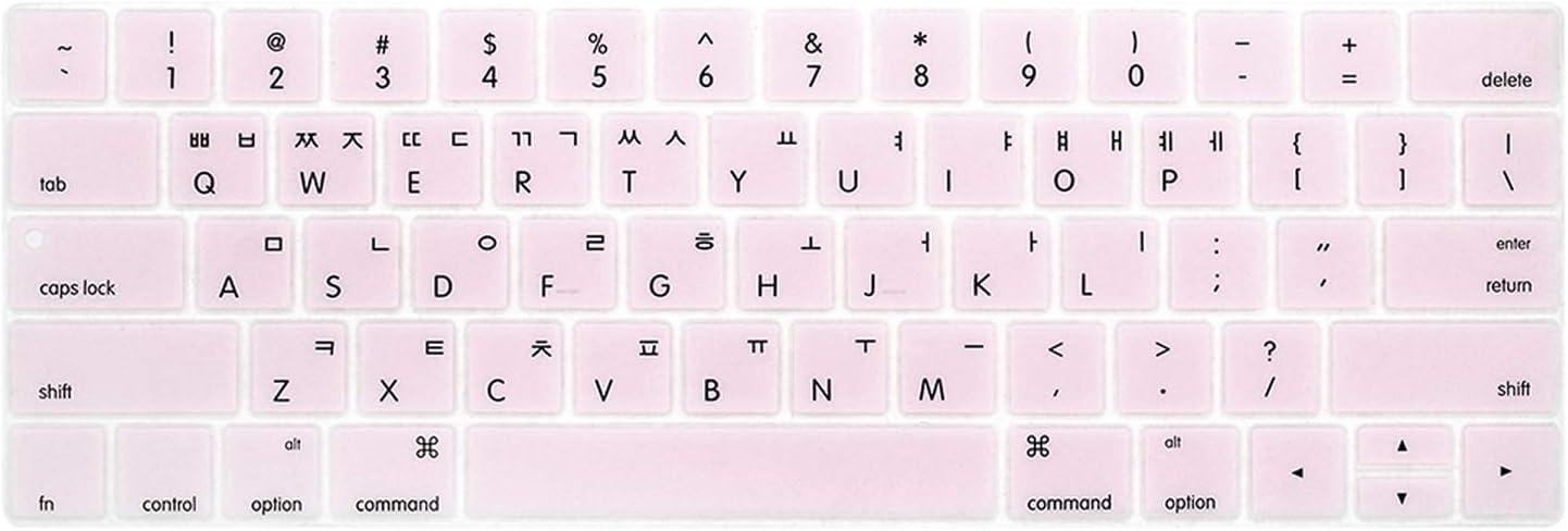 Korean Keyboard Cover Protector Skin for MacBook Korea Laptop Keyboard Protective Film-Clear
