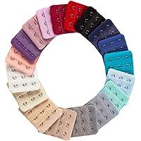 KESYOO 10pcs Bra Extender 3 Hook 3 Row Elastic Bra Strap Extender Bra Extension for Women Lady (Random Color)