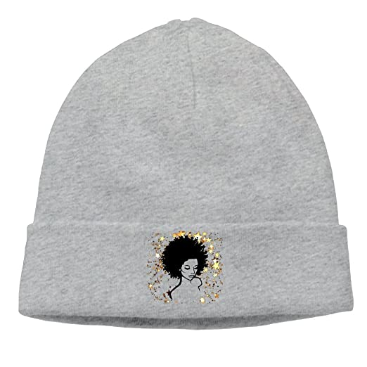 39eec845 Beanie Hats Skull Knit Caps Fashion Unisex Golden Stars African American  Girl