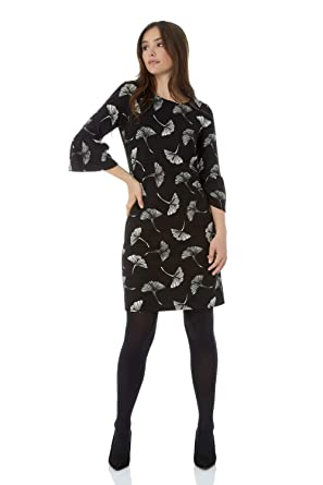 timeless design 4fc31 b4d0b Roman Originals Damen Shift-Kleid mit 3/4-Arm - Damen ...
