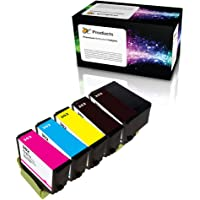 OCProducts Remanufactured Ink Cartridge 5 Pack for Epson 302 for Expression Premium XP-6000 XP-6100