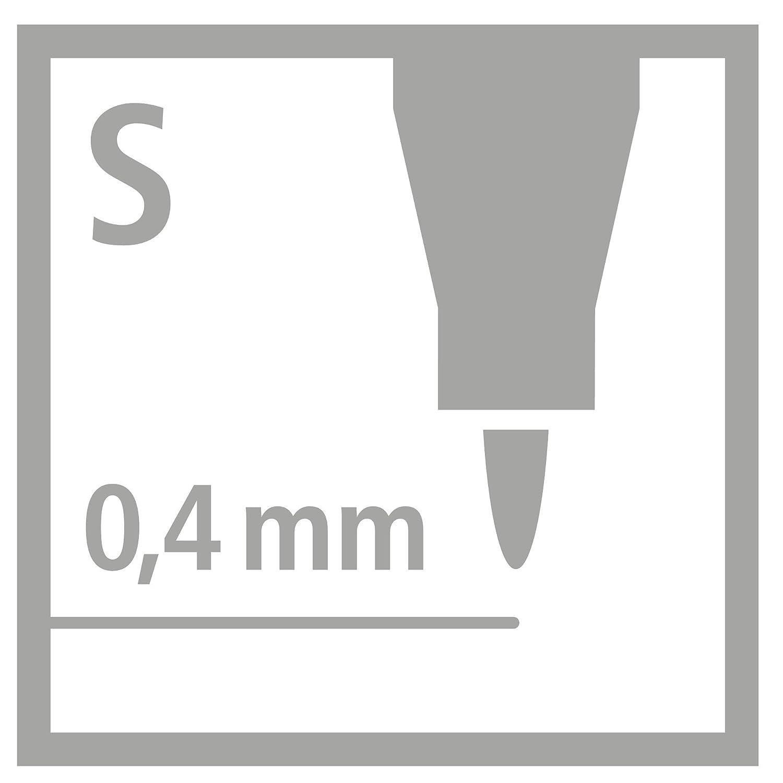 STABILO OHPen universal Fine cancellabile colore Rosso Confezione da 10