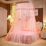 Lustar Court Style Mosquito Net Bed Canopy for Children Fly Insect Protection Indoor Decorative Height 270cm Top Diameter 1.2m for 1-2m Bed,Cream