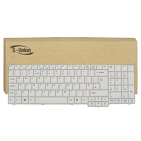 df81cf0994e S-Union New Gray-White Laptop UK Keyboard for Acer Aspire 7220 7720 7520