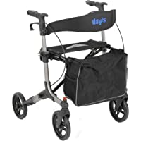 Performance Health 09 155 8352 天脉冲 4 轮滚轮,带简易可调节锁系统,内置座椅,银色