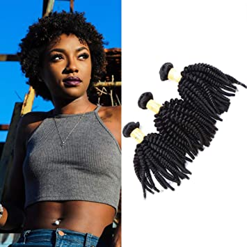Amazon Com Afro Kinky Curly Weave Short Hairstyles Malaysian Hair