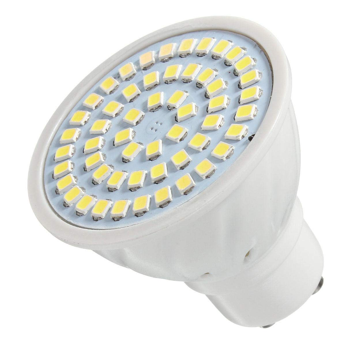 Color : White GU10 Led Bulb Dimmable Tunable Spotlight Light GU10 4W 54 SMD 2835 LED Warm White Pure White Spotlightting Bulb for Track Recessed Ceil Outdoor Landscape Lighting