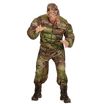 NET TOYS Disfraz Soldado musculoso Traje Hombre Militar M 50 ...