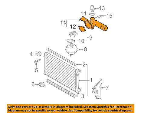 Super Amazon Com Volkswagen 03L 121 132 Engine Coolant Outlet Flange Wiring Database Indigelartorg