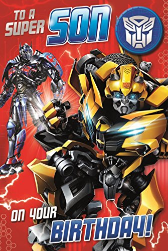 Transformers The Last Knight Son Birthday Card And - Birthday Card Transformers